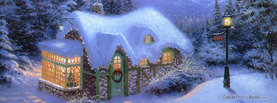 Christmas House, Free Facebook Timeline Profile Cover, Holidays