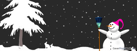 Christmas Snowman Tree Rabbits, Free Facebook Timeline Profile Cover, Holidays