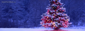 Christmas Tree Dark, Free Facebook Timeline Profile Cover, Holidays