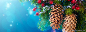 Christmas Tree Pine Cones, Free Facebook Timeline Profile Cover, Holidays