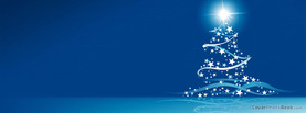 Christmas Tree Stars Clean Simple, Free Facebook Timeline Profile Cover, Holidays