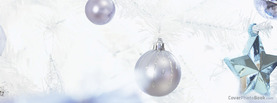 Christmas White Ornaments, Free Facebook Timeline Profile Cover, Holidays