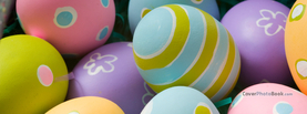 Close Up Pastel Painted Easter Eggs, Free Facebook Timeline Profile Cover, Holidays