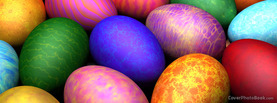 Colorful Easter Eggs, Free Facebook Timeline Profile Cover, Holidays