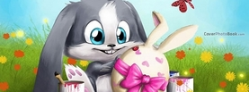 Cute Cartoon Easter Bunny Holiday, Free Facebook Timeline Profile Cover, Holidays