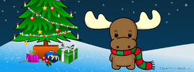 Cute Christmas Moose Cartoon, Free Facebook Timeline Profile Cover, Holidays