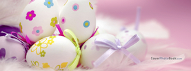 Cute Easter Eggs Bows Pink, Free Facebook Timeline Profile Cover, Holidays
