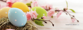 Cute Easter Eggs with Flowers, Free Facebook Timeline Profile Cover, Holidays