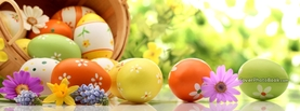 Easter Basket with Eggs Flowers, Free Facebook Timeline Profile Cover, Holidays
