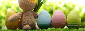 Easter Bunny Toy Pastel Eggs, Free Facebook Timeline Profile Cover, Holidays