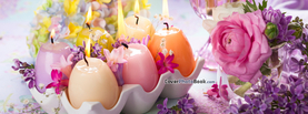 Easter Egg Candles Flame Flowers, Free Facebook Timeline Profile Cover, Holidays