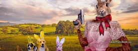 Easter Egg Hunt Rabbit Gun Dogs Cat, Free Facebook Timeline Profile Cover, Holidays