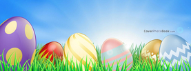 Easter Eggs in Grass Illustration, Free Facebook Timeline Profile Cover, Holidays
