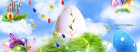 Easter Eggs on Clouds Design Sparkle, Free Facebook Timeline Profile Cover, Holidays