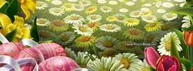 Easter Flower Field Eggs, Free Facebook Timeline Profile Cover, Holidays