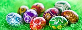 Fancy Easter Eggs Pattern Dye Design, Free Facebook Timeline Profile Cover, Holidays