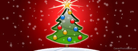 Glossy Christmas Tree Red, Free Facebook Timeline Profile Cover, Holidays