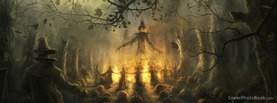 Halloween Children in Forest, Free Facebook Timeline Profile Cover, Holidays