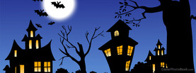 Halloween Night Bats Moon, Free Facebook Timeline Profile Cover, Holidays