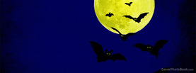 Halloween Night Moon Bats, Free Facebook Timeline Profile Cover, Holidays