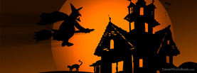 Halloween Witch House Moon, Free Facebook Timeline Profile Cover, Holidays