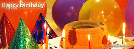 Happy Birthday Cake Hats, Free Facebook Timeline Profile Cover, Holidays