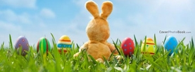 Happy Easter Bunny Doll Grass Eggs, Free Facebook Timeline Profile Cover, Holidays