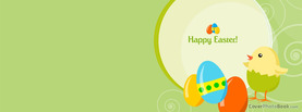 Happy Easter Chick Eggs Vector, Free Facebook Timeline Profile Cover, Holidays