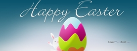 Happy Easter Illustration Bunny Egg Cartoon, Free Facebook Timeline Profile Cover, Holidays