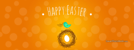 Happy Easter Tweet Bird Nest Egg, Free Facebook Timeline Profile Cover, Holidays