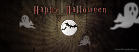 Happy Halloween Moon Bats, Free Facebook Timeline Profile Cover, Holidays
