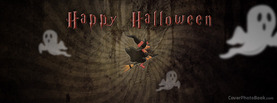Happy Halloween Witch Broom, Free Facebook Timeline Profile Cover, Holidays