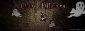 Happy Halloween Witch Hat, Free Facebook Timeline Profile Cover, Holidays