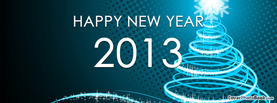 Happy New Year 2013 Star Tree, Free Facebook Timeline Profile Cover, Holidays