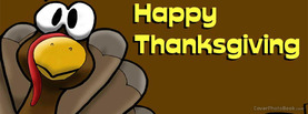 Happy Thanksgiving Day Turkey Cartoon, Free Facebook Timeline Profile Cover, Holidays
