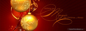 Magic Christmas Balls, Free Facebook Timeline Profile Cover, Holidays