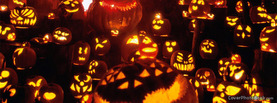 Many Evil Halloween Pumpkins, Free Facebook Timeline Profile Cover, Strange