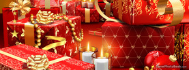 Many Red Christmas Gifts, Free Facebook Timeline Profile Cover, Holidays