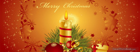Merry Christmas Candle, Free Facebook Timeline Profile Cover, Holidays