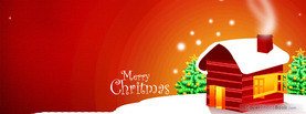 Merry Christmas House, Free Facebook Timeline Profile Cover, Holidays