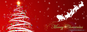 Merry Christmas Tree Star, Free Facebook Timeline Profile Cover, Holidays
