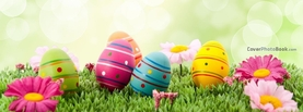 Painted Easter Eggs Flowers Bokeh, Free Facebook Timeline Profile Cover, Holidays