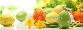 Pastel Easter Eggs Flower Pattern, Free Facebook Timeline Profile Cover, Holidays