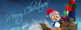 Penguin Merry Christmas, Free Facebook Timeline Profile Cover, Holidays