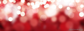 Red Christmas Lights Bokeh, Free Facebook Timeline Profile Cover, Holidays