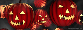 Red Halloween Pumpkins, Free Facebook Timeline Profile Cover, Holidays