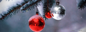 Red and White Christmas Balls, Free Facebook Timeline Profile Cover, Holidays
