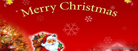 Santa Merry Christmas, Free Facebook Timeline Profile Cover, Holidays