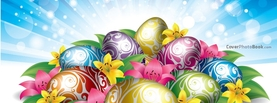 Shiny Easter Eggs Flowers Light, Free Facebook Timeline Profile Cover, Holidays