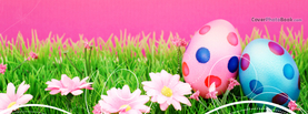 Spotted Easter Eggs in Grass Pink, Free Facebook Timeline Profile Cover, Holidays